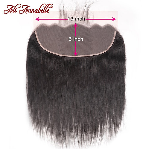 Brazilian Straight Hair 13x6 Lace Frontal W/Baby Hair Natural Color