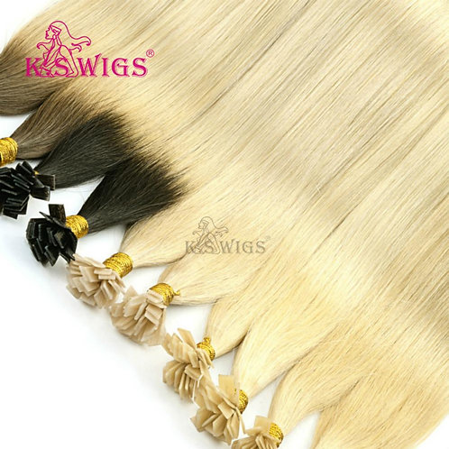 24'' Straight Pre Bonded Flat Tip Remy Human Hair Extensions Keratin Fusion