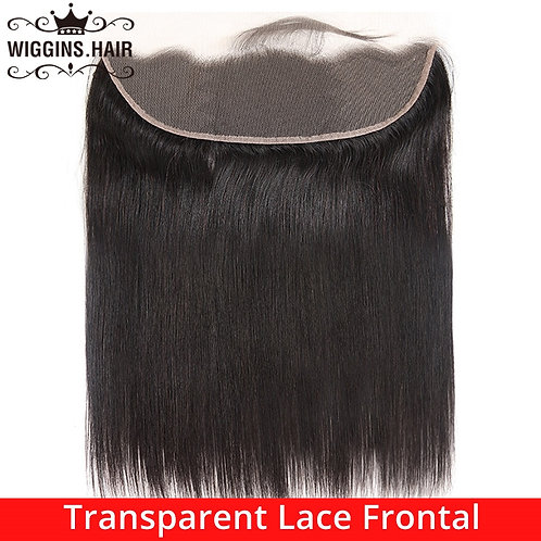 Straight Transparent Lace Frontal 13x4 Ear to Ear Pre Plucked With Baby Hair