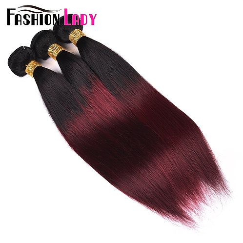 FASHION LADY Pre-Colored Indian Hair Ombre Human