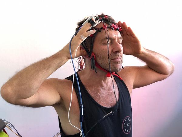 Messaufbau mit EEG Kappe