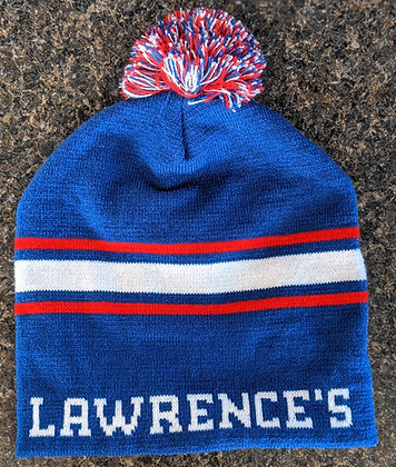 Winter Hat - Blue/Red/White