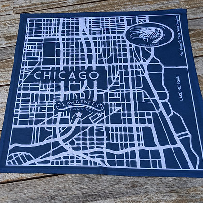 Navy bandanna with map