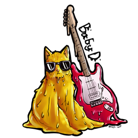 Baby D Musical Artist Sticker Design