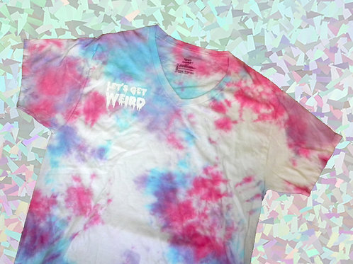 UPCYCLED HAND DYED LET'S GET WEIRD - LARGE T-SHIRT