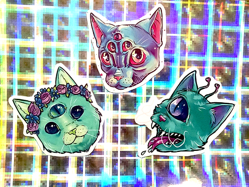 SPACE CAT STICKER PACK