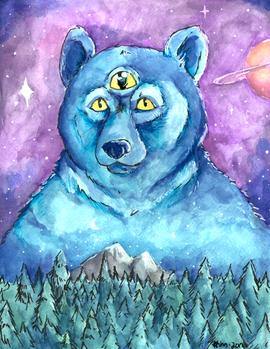 Space Bear Watercolors