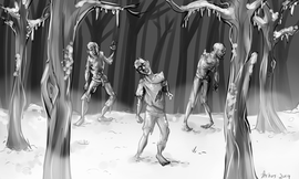 Ice Zombies in the woods!