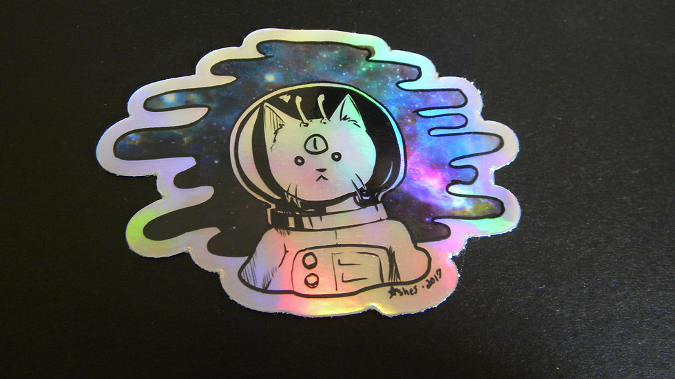 ASTROCAT HOLOGRAPHIC STICKER