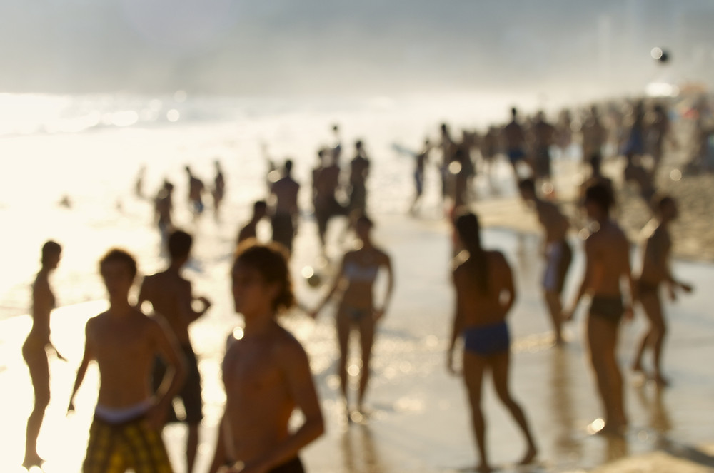 Silhouettes on Ipanema