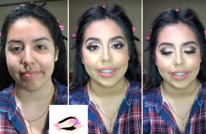 Full Glam Makeup Appplication
