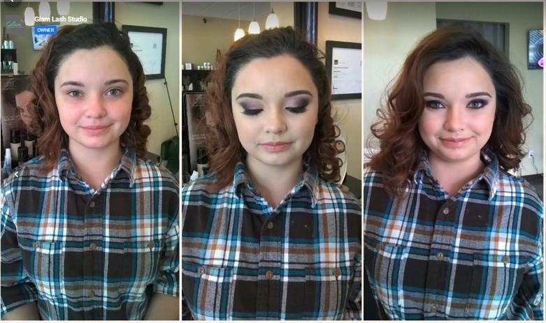 Soft Glam Makeup Application
