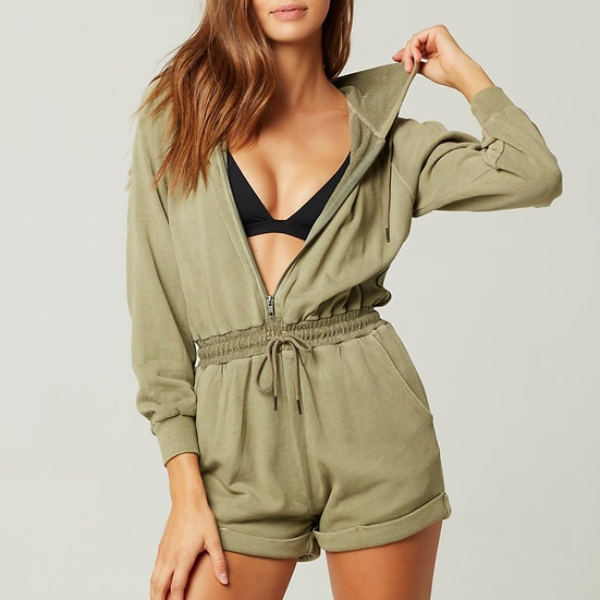 L*SPACE - Washed Army Stay Cool Romper - STAJU20