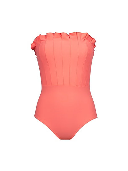 KARLA COLLETTO - Flamingo Pink Lana Bandeau One Piece - 379-000