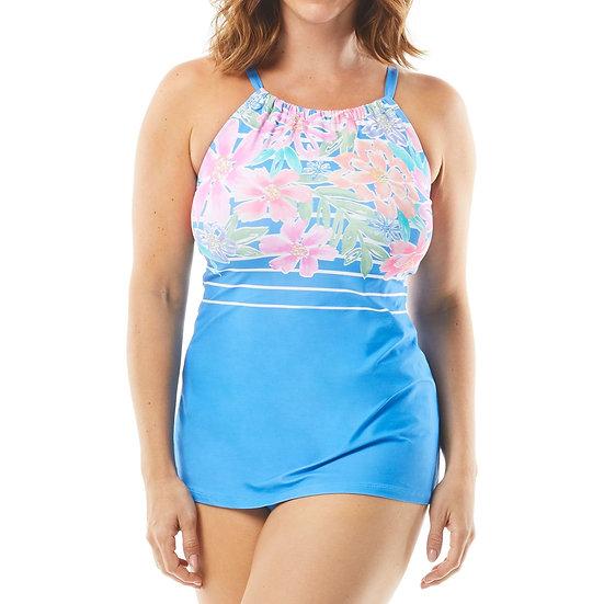 BEACH HOUSE - Periwinkle Floral Blair Tankini - H55731