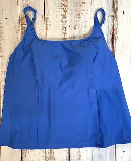 SEA WAVES - Plus Size Separate Solid Tankini Top - STYLE T7045W