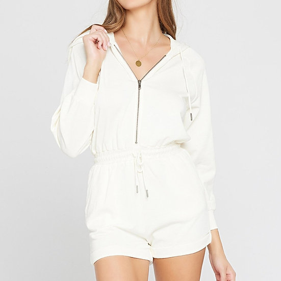 L*SPACE - Cream Stay Cool Romper - STAJU20
