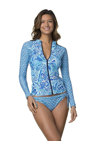 HELEN JON - Blue Grotto Marimar Surf Shirt - HJ230728