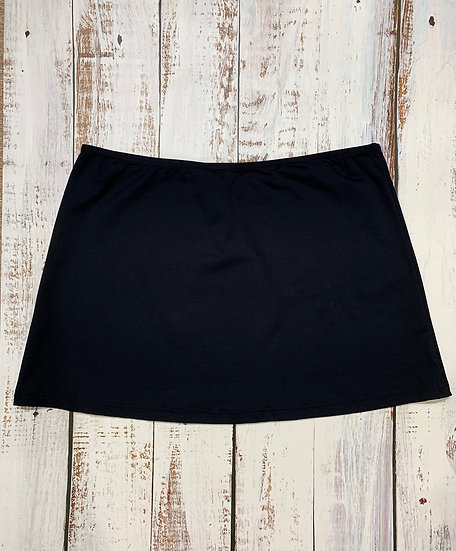 Kuny Solid Black Cover Up Skirt- 20030385