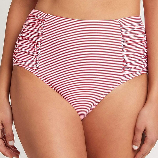 SEA LEVEL - Red Positano Stripe High Waist Bottom - SL4140PO