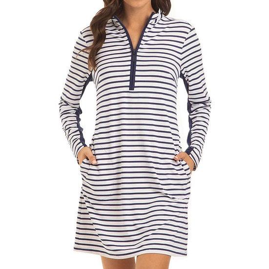 Cabana Life Navy Stripe Sport Dress - 865NSE