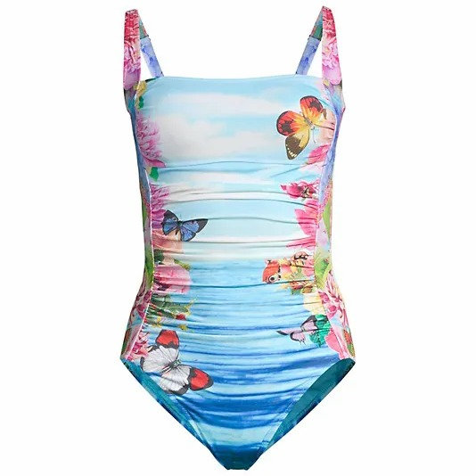 JOHNNY WAS - Costa Azul Ruched One Piece - CSW9121-M