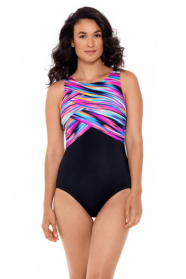 Reebok Wrapped in Perfection High Neck One Piece 782021