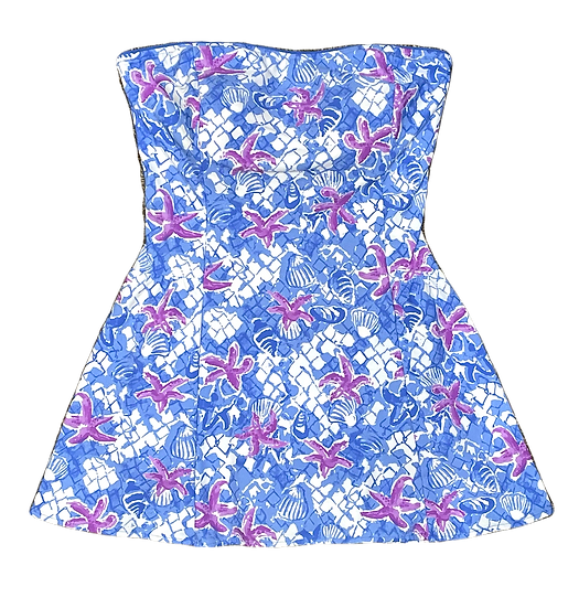 SEA WAVES - Bandeau Skater Swim Dress - SK045