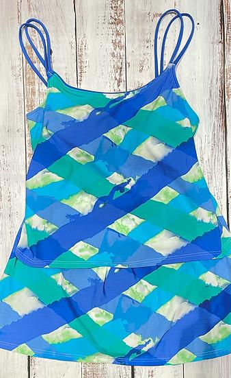 SEA WAVES - Skirtini Set - Watercolor Sea Plaid 531