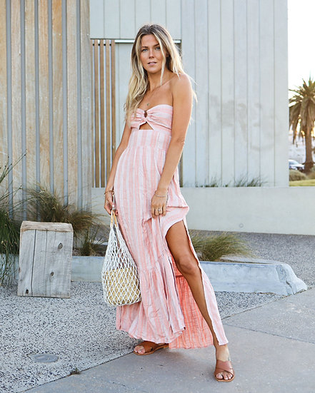 L*SPACE Melody Strapless Maxi Dress MELDR21
