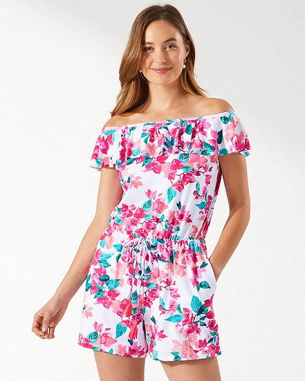 TOMMY BAHAMA - Bougainvillea Off-the-Shoulder Romper - SS500212