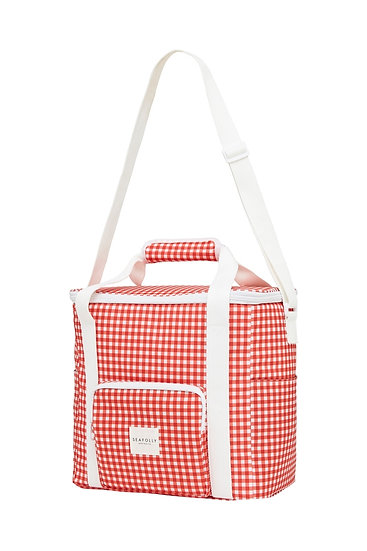 SEAFOLLY - Chili Red Check Cooler Bag - 71708BG
