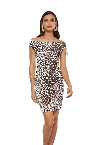 SALE - Roidal Animal Print Dress - 678/2/20