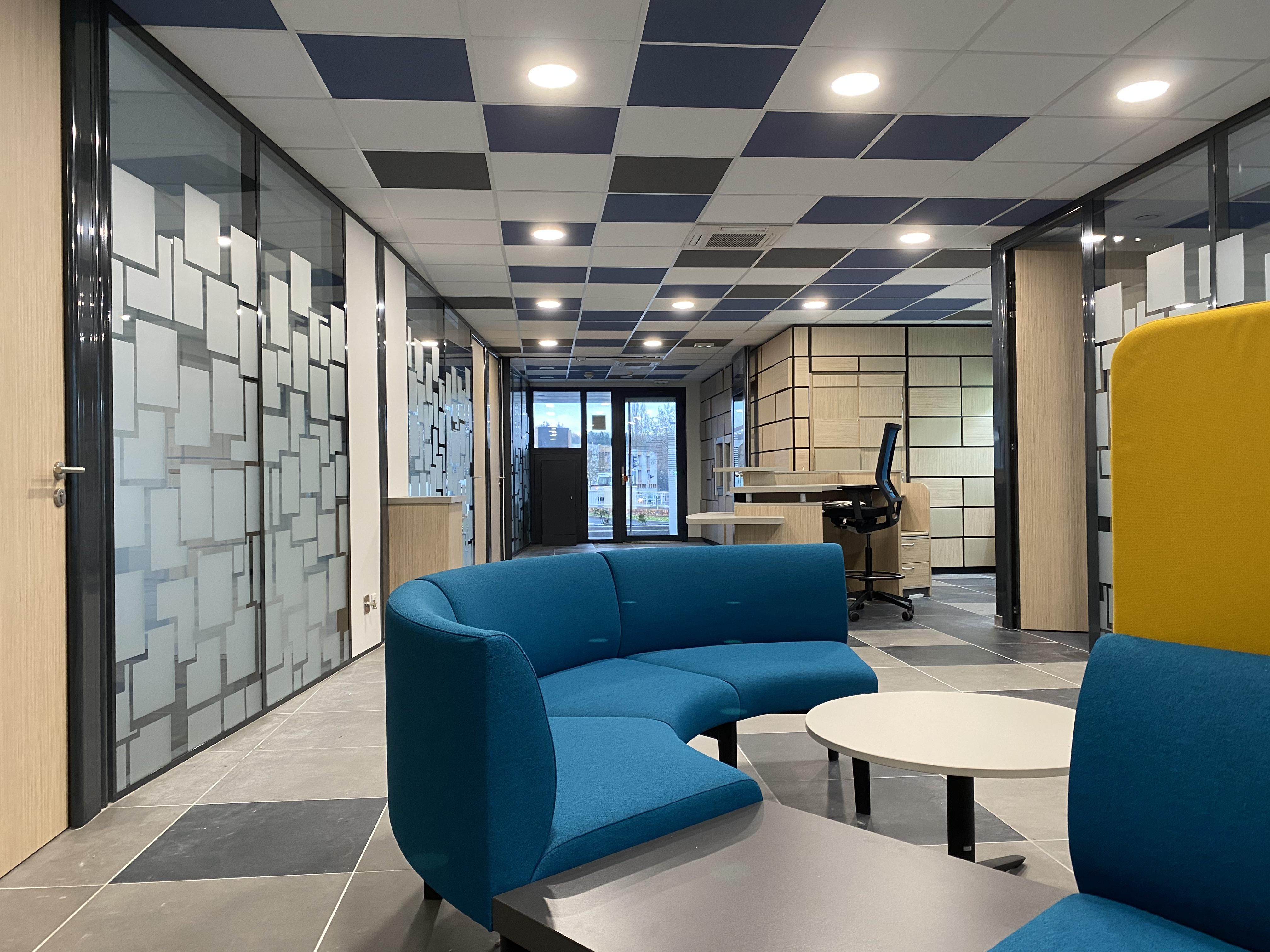Réaménagement d'une agence bancaire à Laxou
