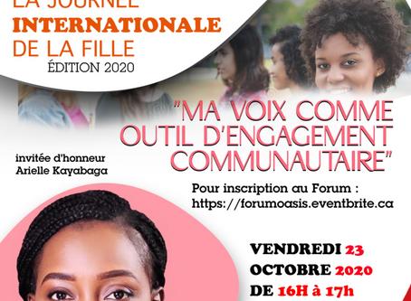 Un forum virtuel pour célébrer la Journée internationale de la fille