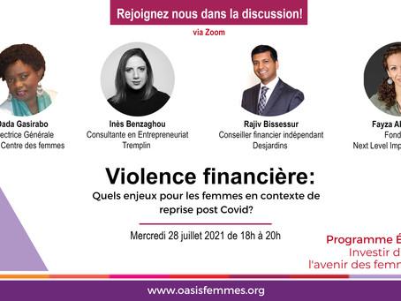 Violence financière 28 juillet de 18h à 20h