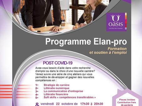 Programme de formation et de soutien à l'emploi.