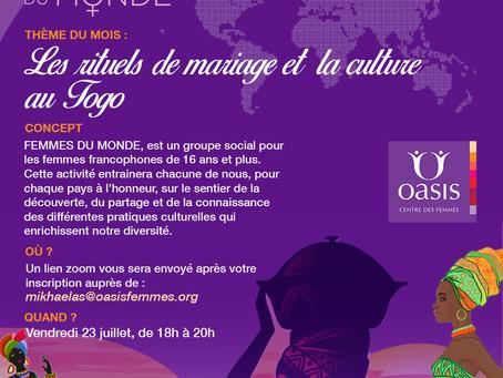 Femmes du monde: Les rituels de mariage et la culture au Togo