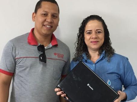 Sertão Digital comemora a primeira doação de notebook