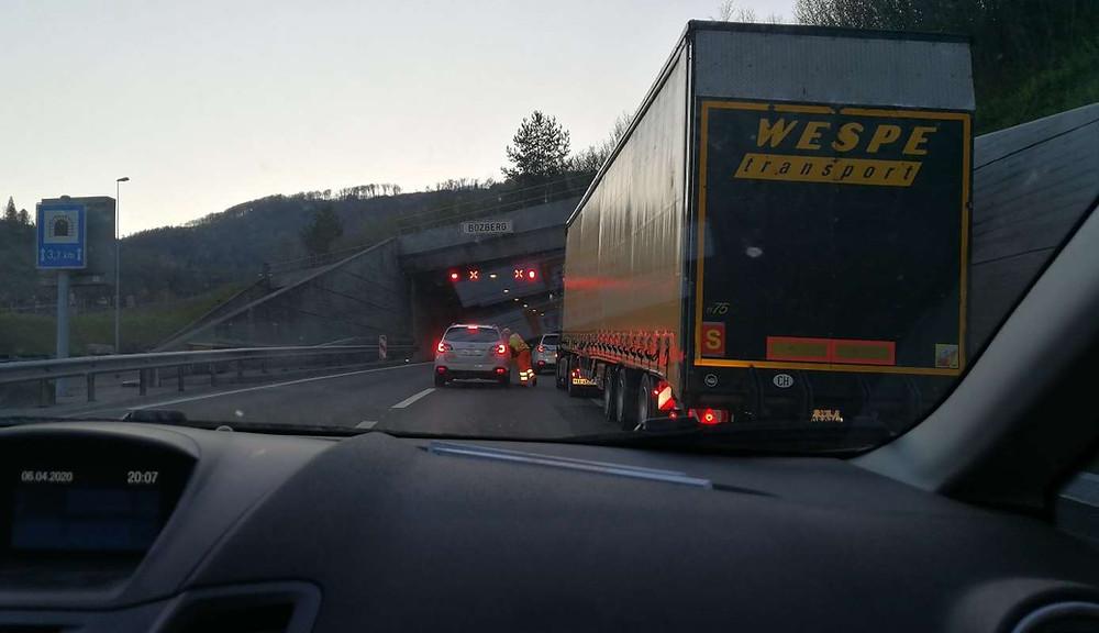 Einfahrt Tunnelbaustelle Bötzberg Tunnel Sivex