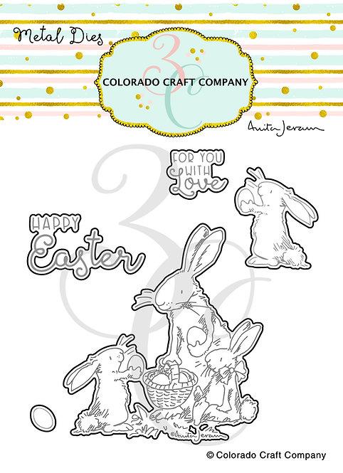 AJ429-D Anita Jeram~Happy Easter Dies