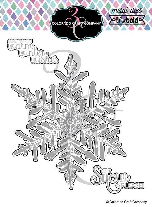 BB355-D Big & Bold Snowflake Dies