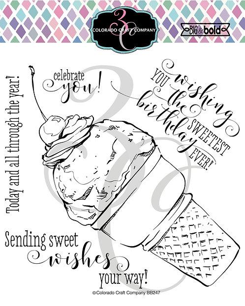 BB247 Big & Bold~Sweetest Birthday Cone