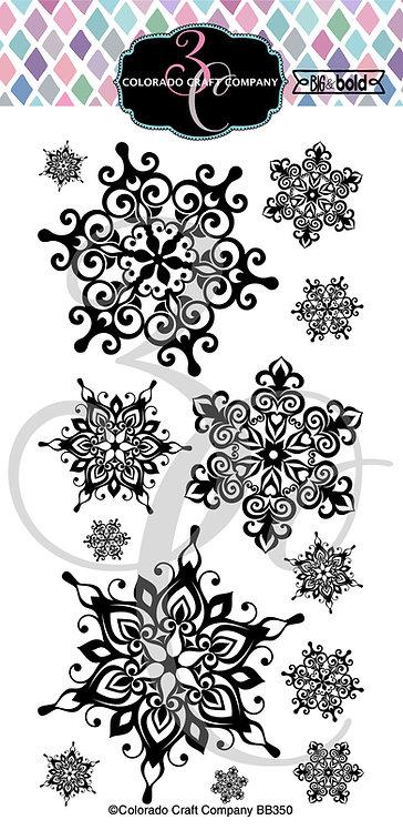 BB350 Big & Bold~Slimline Nordic Snowflakes