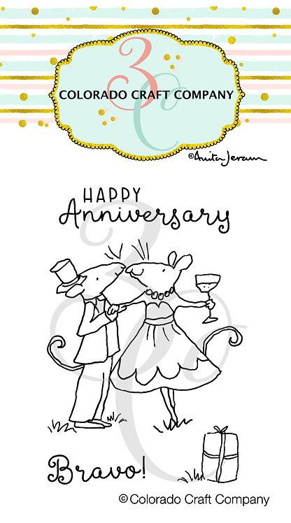 AJ464 Anita Jeram ~ Anniversary Mini Stamps