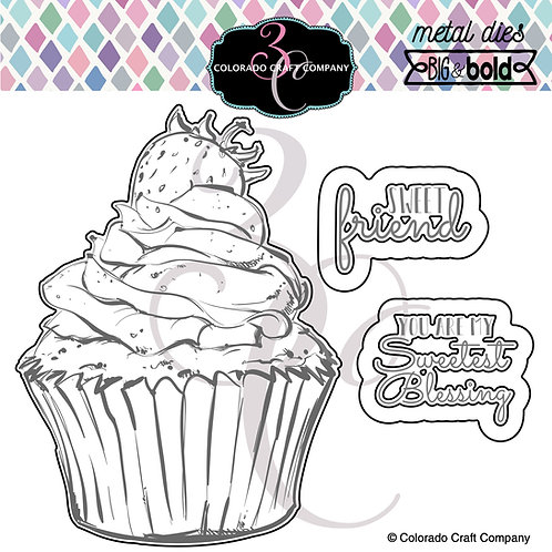 BB354-D Big & Bold Sweet Friend Cupcake Dies