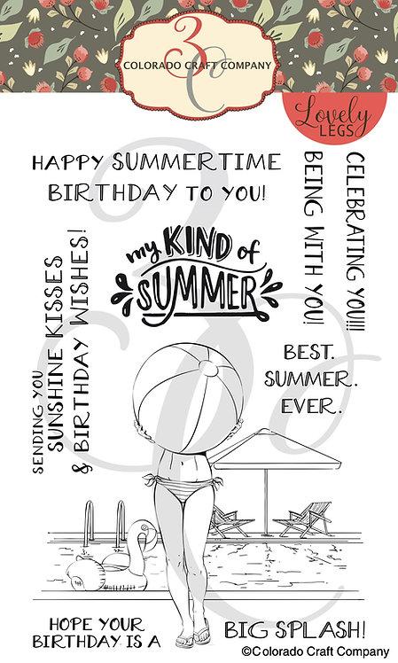LL520 Lovely Legs ~ Summertime Birthday