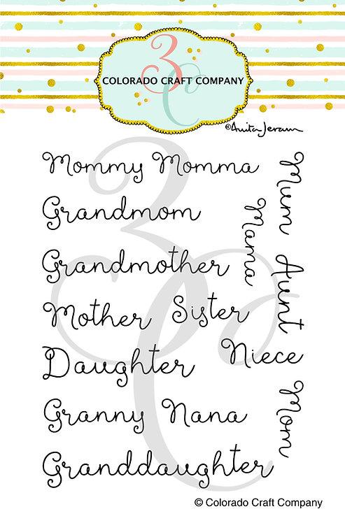 AJ468 Anita Jeram~For Mom Names