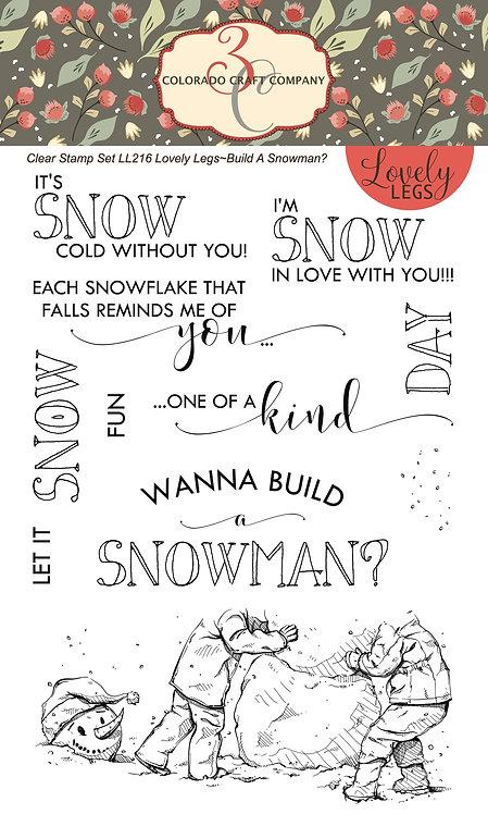 LL216 Lovely Legs~Wanna Build A Snowman?