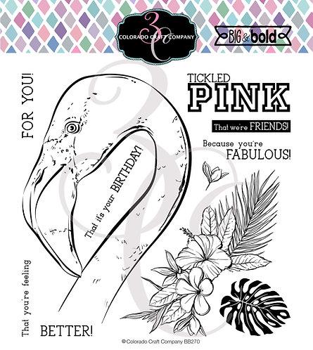 BB270 Big & Bold~Tickled Pink Flamingo